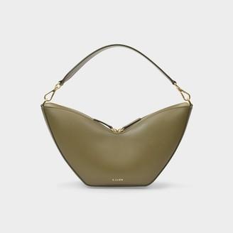 S.JOON Tulip Bag In Khaki Smooth Leather