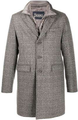 Herno Check Single-Breasted Coat