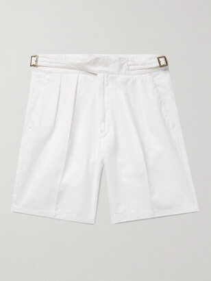 Rubinacci Manny Pleated Cotton-Twill Bermuda Shorts