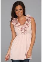 Stetson 8478 Rayon Jersey Sleeveless Babydoll Shirt (Pink) - Apparel