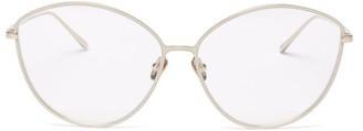 Linda Farrow Francis Cat-eye Gold-plated Titanium Glasses - Gold