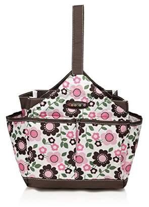COLORLAND Emilia Water Resistant Baby Care Kitbag/Feeding Bath Organiser, Brown/Pink Prunus Mume Flower