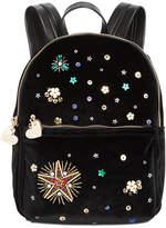 Betsey Johnson Velvet Small Backpack