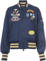 Mira Mikati appliquéd badge bomber jacket