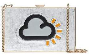 Anya Hindmarch Printed Metallic Leather Box Clutch
