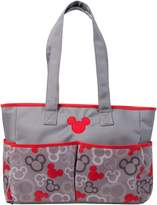 Disney Mickey Mouse Diaper Bag, Gray/Red, Large