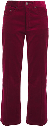 Marc Jacobs Cropped Cotton-blend Corduroy Straight-leg Pants