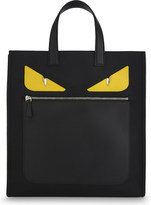 Fendi Monster nylon and leather tote
