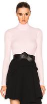 Carven Turtleneck Sweater in Pink.