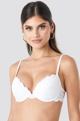 NA-KD Lace Padded Cup Bra White