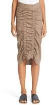 Zero Maria Cornejo Gemma Ruched Marine Twill Skirt