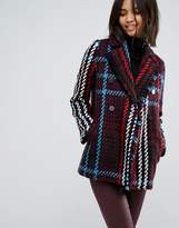 Esprit Check Pea Coat
