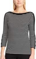 Chaps Women's Waffle-Knit Boatneck Top