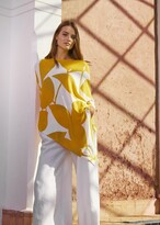 Thumbnail for your product : Phase Eight Lamona Printed Knitted Top