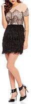 Sugar Lips Sugarlips Lace Feather A-line Dress