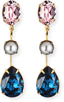 Jennifer Behr Allanah Crystal & Pearly Drop Earrings