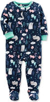 Carter's 1-Pc. Forest-Print Footed Pajamas, Baby Girls (0-24 months)