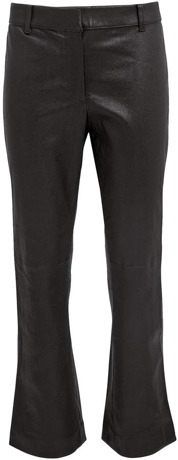 Derek Lam 10 Crosby Leather Cropped Flare Trousers