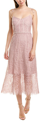 Keepsake Sense Lace Midi Dress