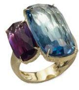 Marco Bicego Murano London Blue Topaz, Amethyst & 18K Yellow Gold Ring