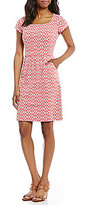 J.Mclaughlin Emma Square Neck Cap Sleeve Dress