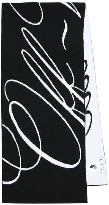 Off-White Logo wool scarf