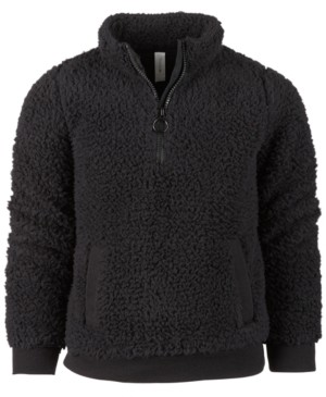 Ideology Little Girls Sherpa Quarter-Zip Jacket, Created for Macy's