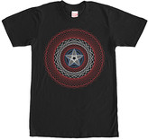 Fifth Sun Men's Tee Shirts BLACK - Captain America String Shield Tee - Men