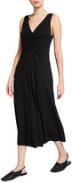 Thumbnail for your product : Vince Double Ruched V-Neck Sleeveless Dress