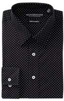 Nick Graham Polka Dot Stretch Slim Fit Dress Shirt