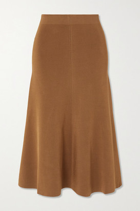 Joseph Stretch-knit Midi Skirt - Mustard