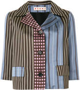 Marni combined print blazer