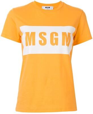 MSGM box logo short-sleeve T-shirt