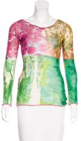 Jean Paul Gaultier Mesh Printed Top