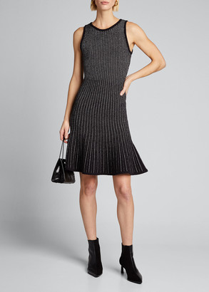 Milly Tweed Sleeveless Fit & Flow Dress
