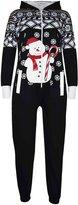 a2z4kids Kids Girls Boys Novelty Christmas Snowman Fleece Onesie All In One Jumpsuit 5-13