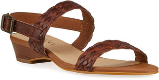 Sesto Meucci Glen Woven Leather Two-Band Sandals