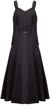Doyi Park Metal Waist Layered Midi Silk Dress