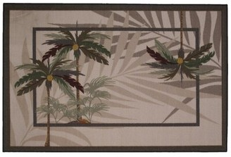 "Fun Rugs Supreme Palm Fronds Brown Area Rug Rug Size: Rectangle 5'3"" x 7'6"""