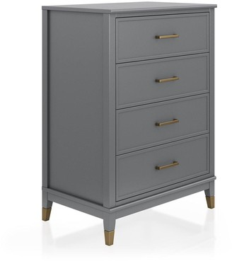 Cosmoliving Westerleigh 4 Drawer Chest - Graphite Grey