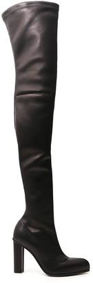 Alexander McQueen Thigh-High Peak Boots