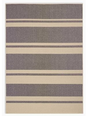 Calvin Klein San Diego CK730 Striped Handwoven Beige/Gray Area Rug Rug Size: Rectangle 4' x 6'