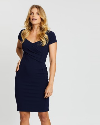 Dorothy Perkins Ruched Wrap Bodycon Dress
