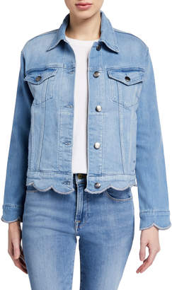 Frame Scallop-Edge Denim Jacket