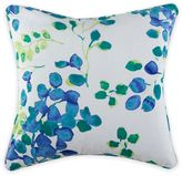Christian Siriano Watercolor Bloom 18-Inch Square Throw Pillow in Blue