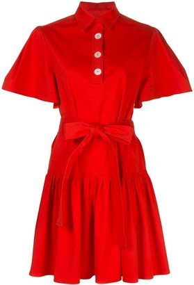Carolina Herrera Wide-Sleeve Mini Dress