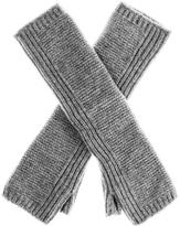 Black Long Grey Cashmere Wrist Warmers