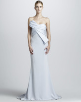 Notte by Marchesa Strapless Gown with Structured Bodice