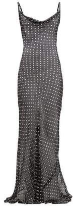 Rat & Boa - Gisele Polka-dot Silk-chiffon Maxi Dress - Womens - Black