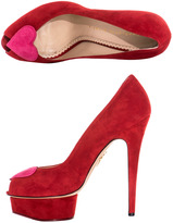 Charlotte Olympia Delphine heart front shoes